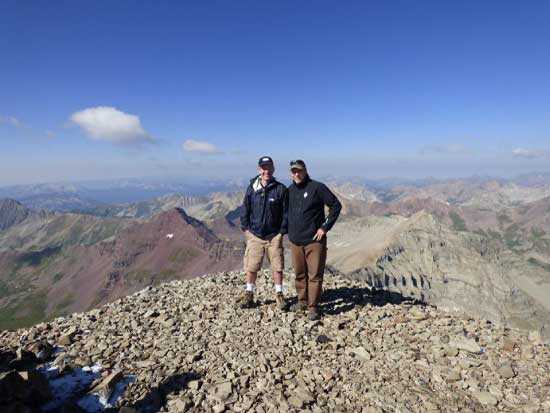 Mike MacKenzie & Bob Rue - Castle Peak near Marble