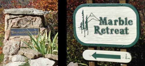 Bannockburn and Marble Retreat